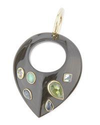 Ashley Pittman | Black Kuangusha Jeweled Dark Horn Pendant | Lyst