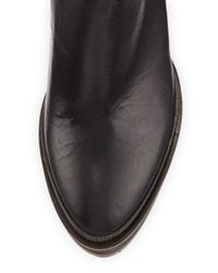 Brunello Cucinelli - Black Monili-Trimmed Leather Ankle Boots - Lyst
