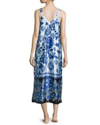 Oscar de la Renta - Multicolor Signature Sleeveless Night Gown - Lyst