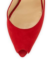 Christian Louboutin | Red Women's Barbara Half D'orsay Pumps | Lyst