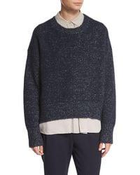 Vince | Blue Knit Drop-shoulder Pullover Sweater | Lyst