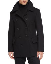 Tom Ford   Black Wool-blend Pea Coat for Men   Lyst