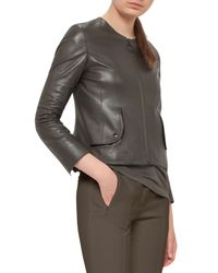Akris Punto - Multicolor Perforated Leather Jacket - Lyst