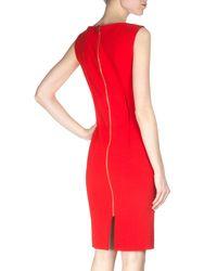 Roland Mouret - Red Grainger Crepe Sheath Dress - Lyst