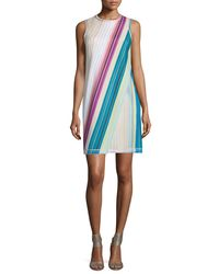 Missoni - Multicolor Sleeveless Striped Faux-wrap Dress - Lyst