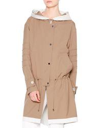 Callens - Natural Waterproof Hooded Drawstring Coat - Lyst