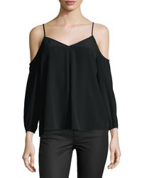 Joie | Multicolor Eclipse Cold-shoulder Flowy Blouse | Lyst