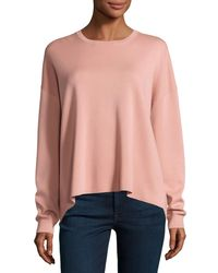 Theory | Pink Twylina Refine Flyaway-back Sweater | Lyst