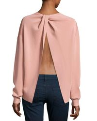 Theory - Pink Twylina Refine Flyaway-back Sweater - Lyst