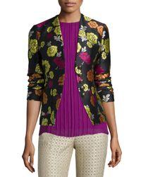 Etro - Pink Floral-print Corset-back Jacket - Lyst