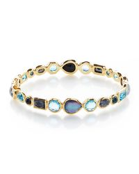Ippolita - Green 18k Rock Candy Mixed Hinge Bracelet In Midnight Rain - Lyst