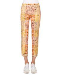 Akris Punto | Multicolor Franca Riviera-print Ankle Pants | Lyst