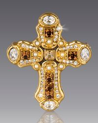 Jay Strongwater | Metallic Medieval Cross Pin | Lyst