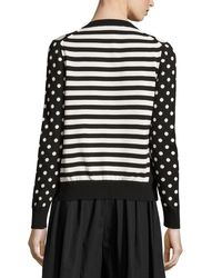 Marc Jacobs - Black Polka-dot Crewneck Sweater - Lyst