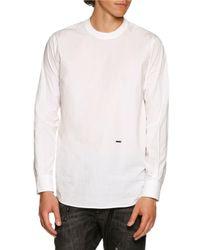DSquared² | White Dan Shirting Long-sleeve T-shirt for Men | Lyst