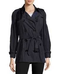 Burberry | Blue Middlemere Bell-sleeve Short Trench Coat | Lyst