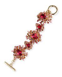 Oscar de la Renta | Tiered Crystal Toggle Bracelet | Lyst