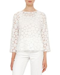 Akris Punto | Multicolor Transparent Punto Dot Top | Lyst