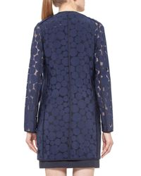 Akris Punto | Blue Punto Dot Zip-front Jacket | Lyst