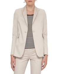 Akris Punto | White Stretch-cotton One-button Blazer | Lyst