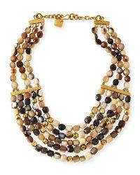 Ashley Pittman | Metallic Kubwa Multi-strand Necklace | Lyst