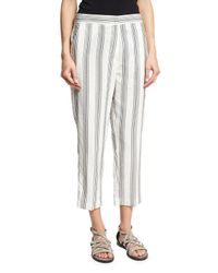 Brunello Cucinelli | Multicolor Micro Paillette-striped Pants | Lyst