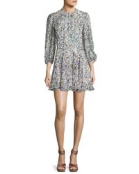 Derek Lam | White Abstract-print Silk Mini Dress | Lyst