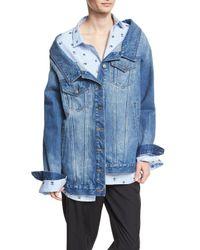Robert Rodriguez | Blue Long Denim Jacket | Lyst