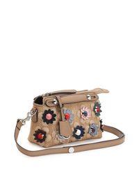 Fendi - Multicolor By The Way Mini Floral Straw Satchel Bag - Lyst