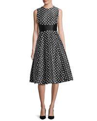 Lela Rose | Black Juliet Cut-fringe Sleeveless Satin Dress | Lyst