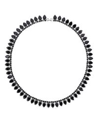 Fallon | White Monarch Pointed Choker Necklace | Lyst