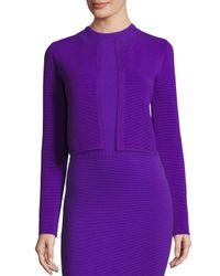 Ralph Lauren Collection   Purple Ottoman-knit Shrug Jacket   Lyst