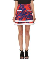 Carven | Floral Tiered Mini Skirt | Lyst