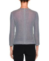Giorgio Armani - Gray Knit Zip-front Jacket - Lyst