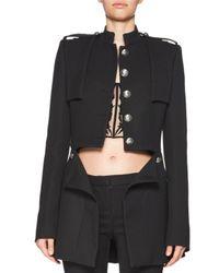 Alexander McQueen | Black Cutaway Wool-blend Jacket | Lyst