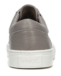 Vince - Gray Afton Leather Low-top Sneaker for Men - Lyst