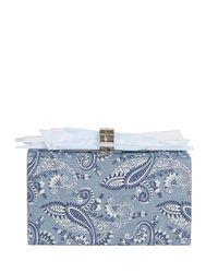 Edie Parker | Blue Wolf Paisley-print Clutch Bag | Lyst