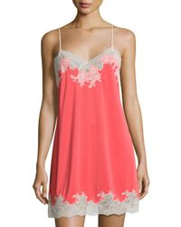 Natori | Multicolor Enchant Lace-trimmed Chemise | Lyst
