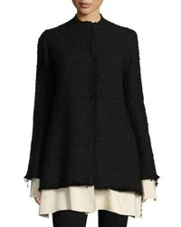 The Row   Black Schrader Contrast-trim Boucle Jacket   Lyst