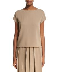 The Row | Brown Lola Top | Lyst