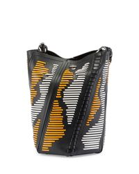 Proenza Schouler | Black Hex Medium Woven Leather Bucket Bag | Lyst