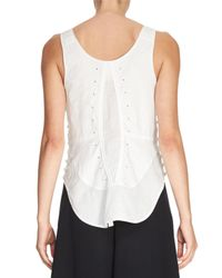 Chloé | White Sleeveless Cotton Corset Top | Lyst