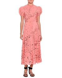 Valentino | Pink Metamorphosis Printed Tea-length Dress | Lyst