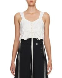 Chloé | White Sleeveless Cotton Crop Top | Lyst