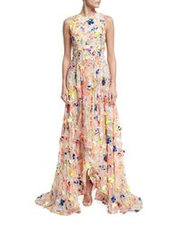 Jason Wu | Natural Flocked High-low Silk Gown | Lyst