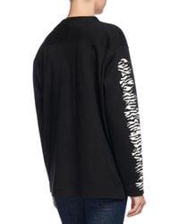 Proenza Schouler | Black Mixed Graphic-print Jersey Top | Lyst