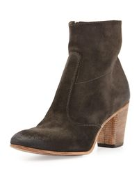 Alberto Fermani | Black Diva Suede Ankle Boot | Lyst