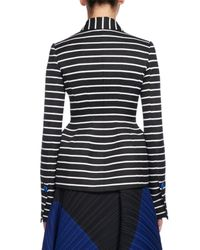 Proenza Schouler | Black Striped Asymmetric Suiting Jacket | Lyst