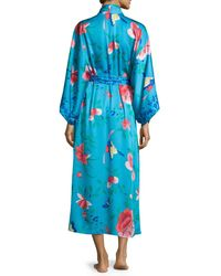 Natori - Blue Manila Floral-print Robe - Lyst