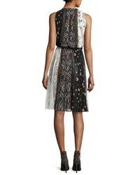 Giambattista Valli - Black Sleeveless Paneled Silk Dress - Lyst